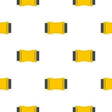 Yellow side release buckle pattern flat