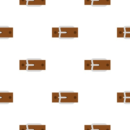 waistband: Leather belt with silver buckle pattern flat