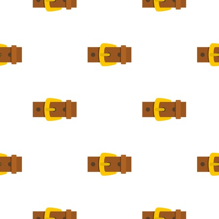 gold buckle: Gold buckle pattern flat Illustration