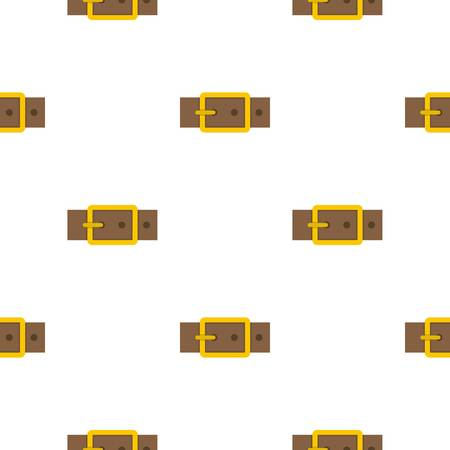 waistband: Gold square buckle pattern flat