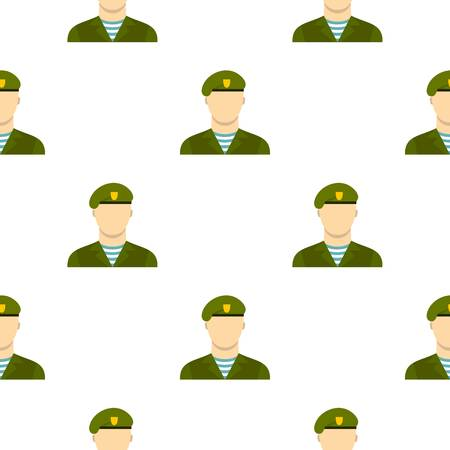 Army soldier pattern seamless flat style for web vector illustration