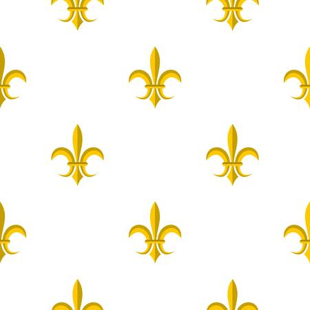 fleurdelis: Gold royal lily pattern seamless flat style for web vector illustration