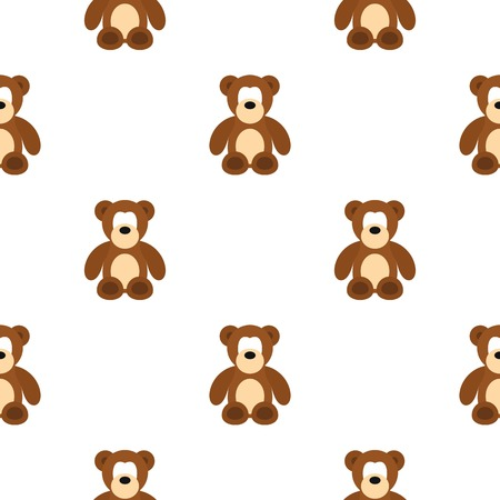 huggable: Bear toy pattern seamless flat style for web vector illustration
