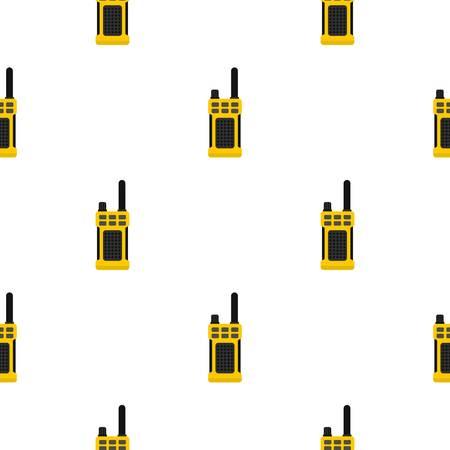 portable radio: Portable radio transmitter pattern seamless flat style for web vector illustration