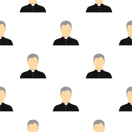 Catholic priest pattern seamless flat style for web vector illustration