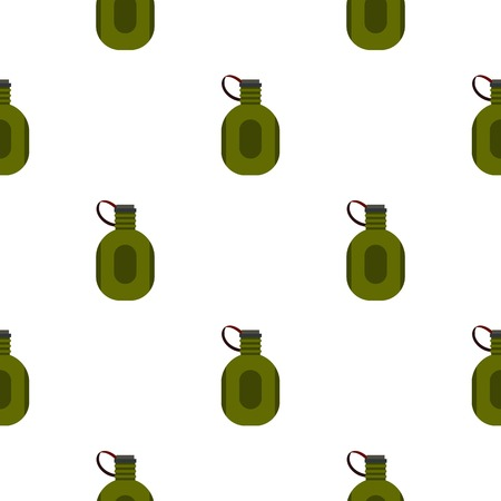 thirsty: Water canteen pattern seamless flat style for web vector illustration Illustration