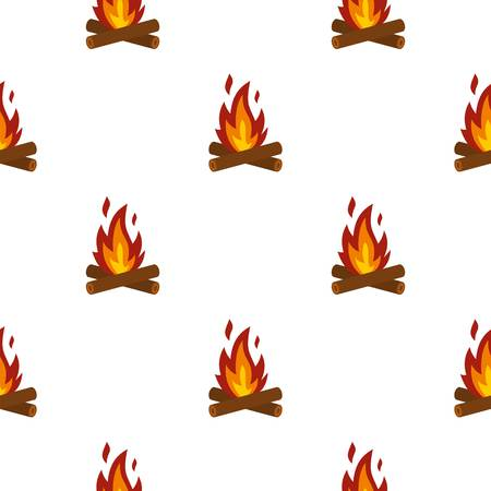 Camp fire pattern seamless flat style for web vector illustration
