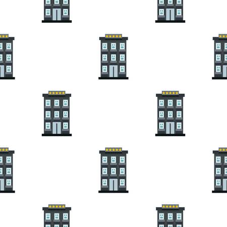 apartment bell: Hotel pattern seamless flat style for web vector illustration Illustration