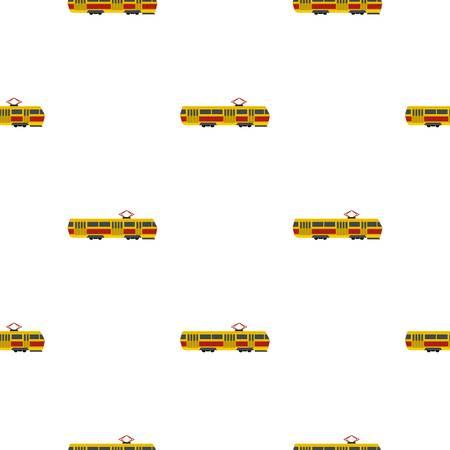 passanger: Tram pattern seamless flat style for web vector illustration Illustration