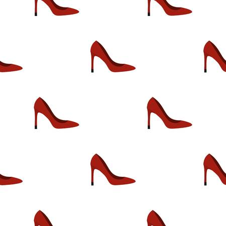Shoe pattern seamless flat style for web vector illustration