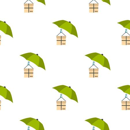 Umbrella and box pattern seamless flat style for web vector illustration Ilustração