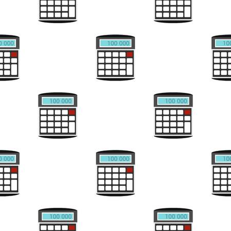 Calculator pattern flat Illustration