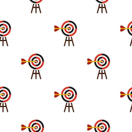 Target pattern flat Illustration