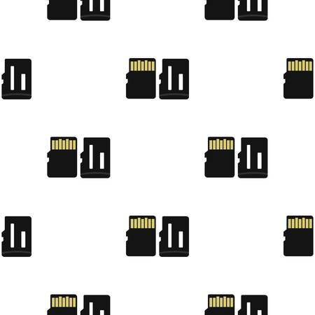 adapters: Memory card pattern flat