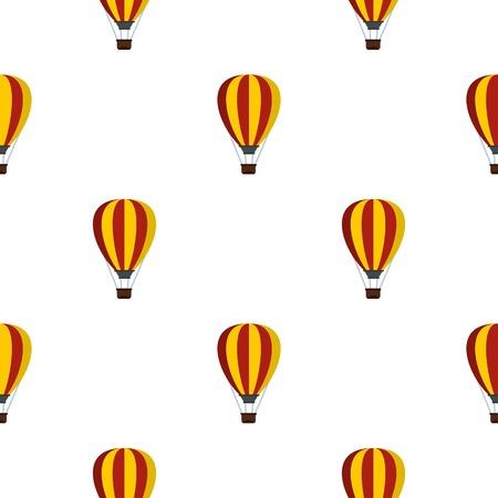 airship: Balloon pattern flat Illustration