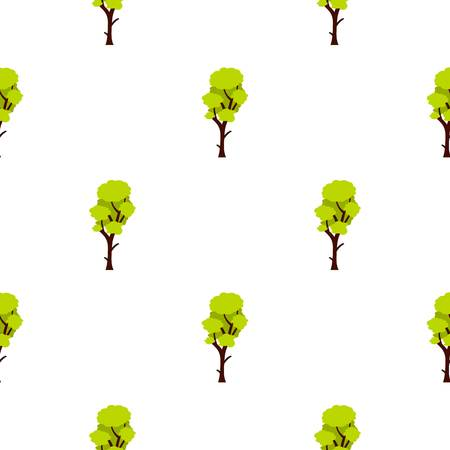 cultivate: Tall green tree pattern seamless flat style for web vector illustration Illustration