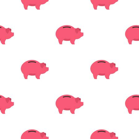 Piggy pattern seamless flat style for web vector illustration