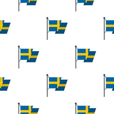 Flag of Sweden pattern flat Illustration