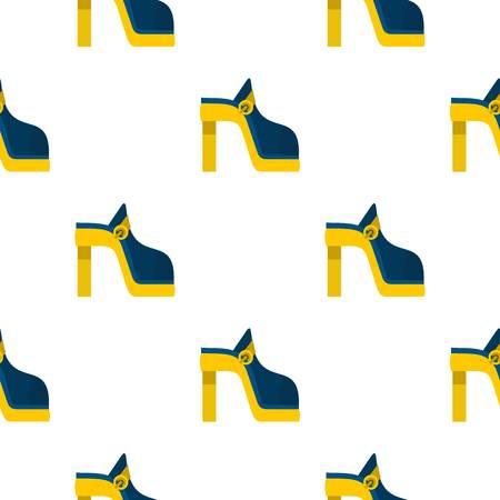 Women shoe pattern seamless flat style for web vector illustration
