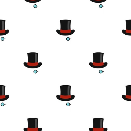 monocle: Hat with monocle pattern flat Illustration