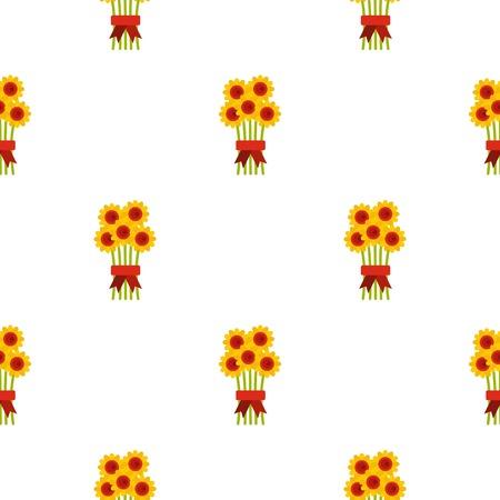 give: Bouquet of flowers pattern flat