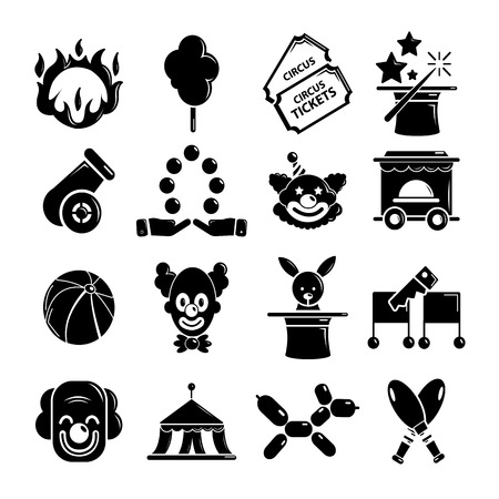 ring stand: Circus icons set, simple style
