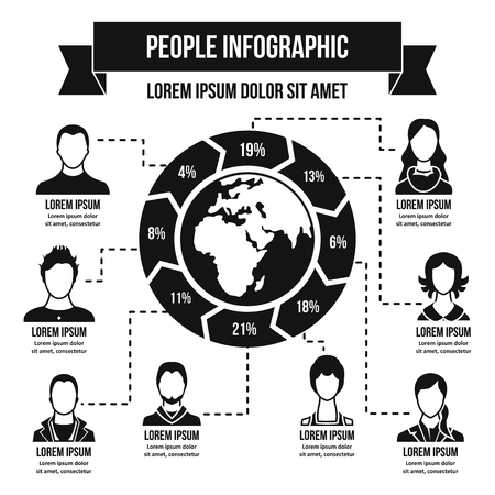 People infographic concept, simple style Illustration
