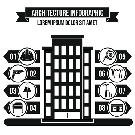 infochart: Architecture infographic concept, simple style