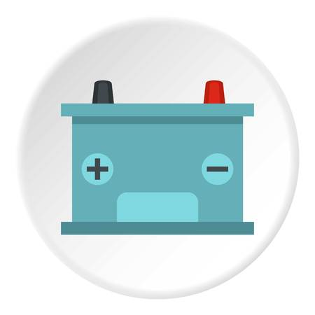 indicate: Blue battery car icon circle