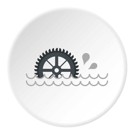 watermill: Big waterwheel icon circle