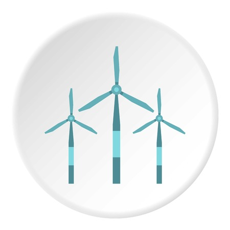 Wind turbine icon circle