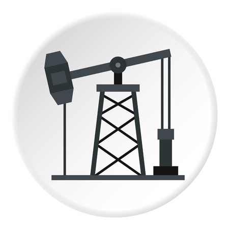 slick: Oil pump icon circle Illustration