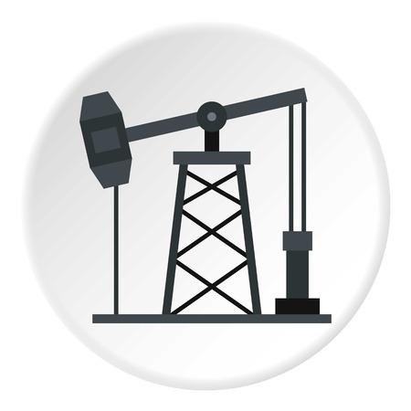 Oil pump icon circle Illustration