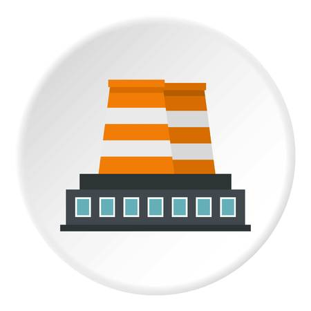 Industrial building icon circle Illustration