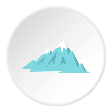 Rocky Mountains icon in flat circle isolated on white vector illustration for web
