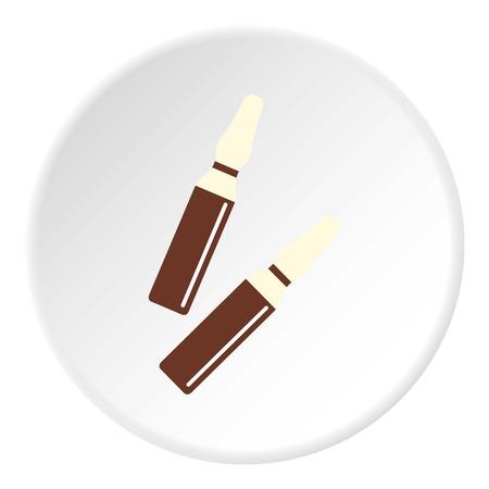 Icône de bâtons d'iode en cercle plat isolé sur blanc vector illustration pour le web