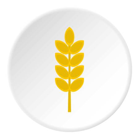 Inlet spike icon in flat circle isolated Illustration