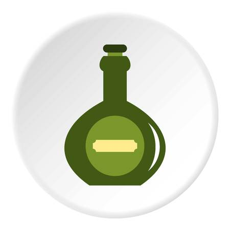 Pass icon in flat circle isolated on white vector illustration for web