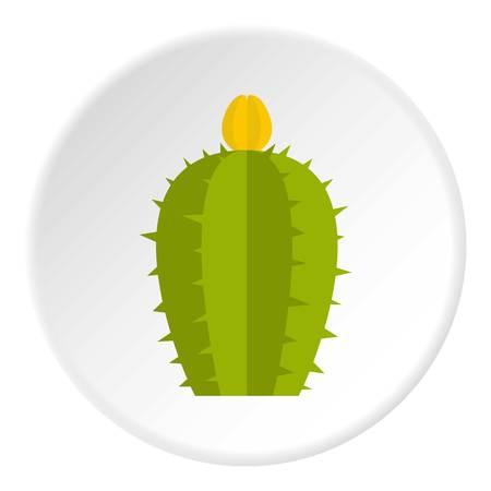 Green Cereus Candicans cactus icon circle