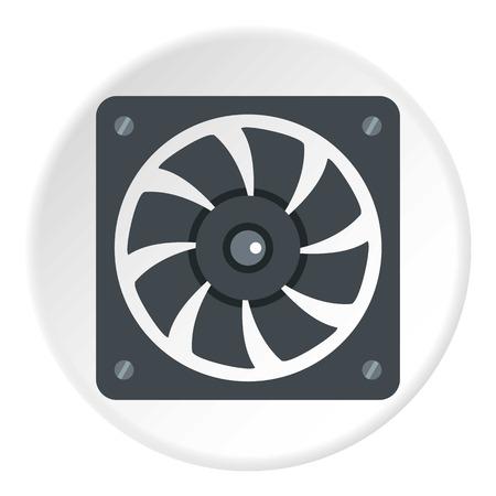 outside the box: Air conditioner compressor unit icon circle