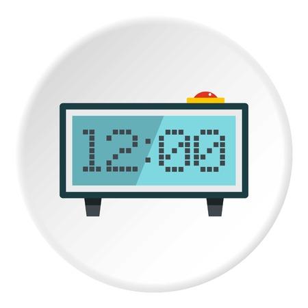 フラット サークル web の白いベクトル図に分離で目覚まし時計アイコン