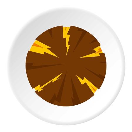 dangerous: Dangerous planet icon circle Illustration
