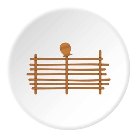 Palisade icon circle Illustration