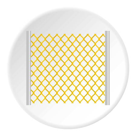 perforated: Perforated gate icon circle