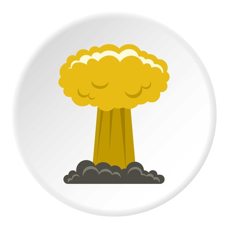 chernobyl: Mushroom cloud icon circle