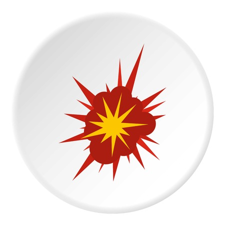 Nucleate explosion icon circle Illustration