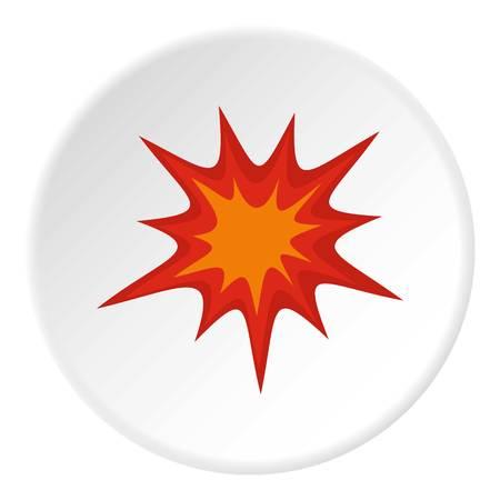 Heavy explosion icon circle