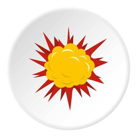 atomic bomb: Terrible explosion icon circle