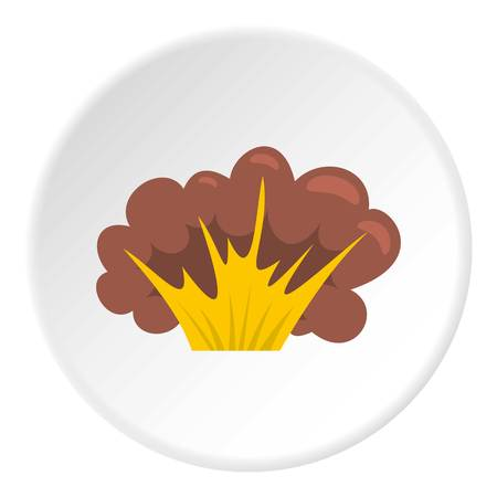 High powered explosion icon circle
