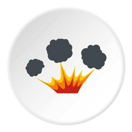 Explosion icon circle
